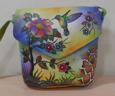 Hand painted leather bag HP 01 Humming Bird Uniq & Rare,Prime Quality