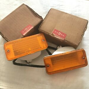GENUINE 1985-1987 Mitsubishi Galant Front Signal Light LH-RH NOS IMASEN JAPAN.
