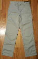 NWT George Boy School Uniform Flat Front Pant Khaki Tan Wrinkle Resistant Sz 14