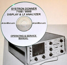 SYSTRON DONNER 710B / 800B Display & Spectrum Analyzer Ops & Service Manual