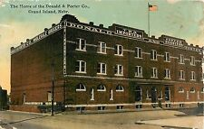 1912 The Donald & Porter Company Building, Grand Island, Nebraska Postcard