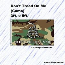 Don't Tread on Me (Camo) 3'x5' Flag