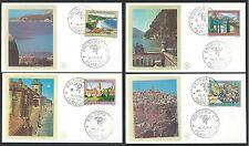 1981 ITALIA FDC FILAGRANO GOLD - TURISTICA - NO TIMBRO ARRIVO - IT7