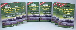 8 PACKS OF WATER PURIFICATION TABLETS-DRINKABLE WATER IN 30 MINUTES! 400 TABS