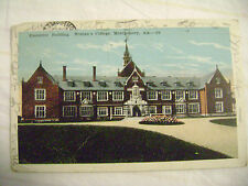 old postcard- EXECUTIVE BUILDING, WOMEN'S COLLEGE, MONTGOMERY, AL 1925