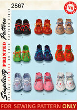 RETIRED SEWING PATTERN! MAKE VINTAGE STYLE FELT BABY SHOE~BOOTIES! BOYS~GIRLS