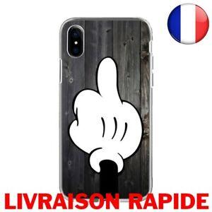 Coque Étui Iphone Mickey Fuck Silicone Souple Apple 7 8 Plus X Max x 10 Xr XS