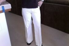 Rampage Solid White with Thin Gold Pinstripe Career Dress Pants Junior Size 5