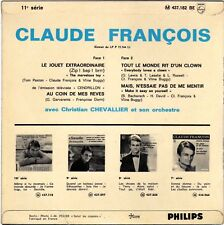 CLAUDE FRANCOIS LE JOUET EXTRAORDINAIRE FRENCH EP POCHETTE GLACEE RECTO / VERSO