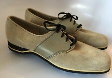 NWOB Vintage HUSH PUPPIES Suede GOLF Shoes Women's 9 M