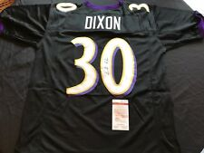 Kenneth Dixon Signed Baltimore Ravens Black Custom Jersey JSA Witness
