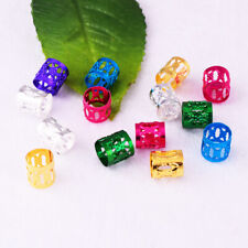 Dreadlock Dread Hair Braid Styling Jewelry Beads Ring Cuff Tube Clip 8mm 7 Color
