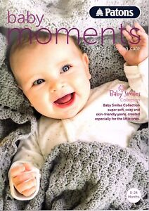 Patons Baby Moments book 003 0-24 months 94 pages Hats. scalf Jackets ect