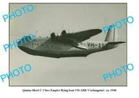 OLD 6 x 4 QANTAS AIRLINES PHOTO C CLASS FLYING BOAT COOLANGATTA c1940