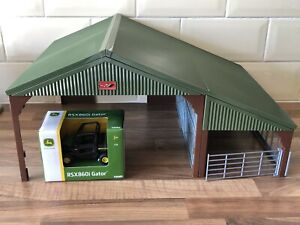 Britains Tractor Shed / Barn Building And A John Deere Gator