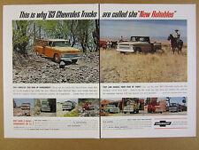 1963 Chevrolet Chevy Trucks pickup dump stake utility Baja Run vintage print Ad