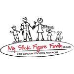 My Stick Figure Family Car Stickers