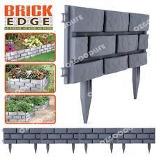 Brick Edge Garden Edging 4-Pack - Grey easy to interlock hammer into soil