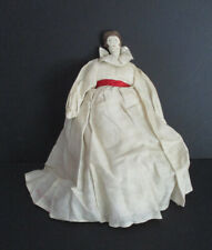 Very Old Charming Handmade Soft Cloth Doll in Colonial Dress with Painted Face!