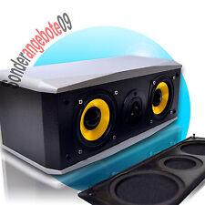 Regallautsprecher Dynavox TG1000B-C Silber Boxen Centerspeaker 50Watt 8 Ohm