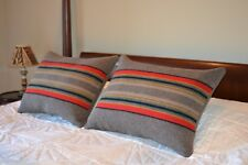 ONE Standard Bed Pillow Sham from Yakima Camp Blanket Brown Mineral Umber Wool