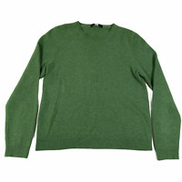 Saks Fifth Avenue Pullover Sweater Jumper Womens S Green Crew Neck Long Sleeve