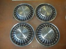 "1967 67 Mercury Hubcap Rim Wheel Cover Hub Cap 15"" OEM USED 628 SET 4 BLACK"