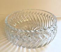 Vintage Decorative Crystal Bowl. Textured Flower Design. Serving & Dining.