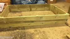tanalised decking raised bed garden planter 1500x900x240mm 5ftx3ft Tanaliseddec