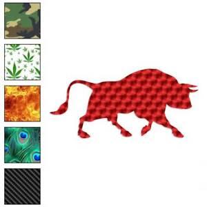 Bull Taurus Decal Sticker Choose Pattern + Size #2806