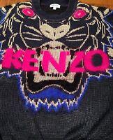 Pull tête de tigre KENZO tiger -  T. M / 36 - 38 neuf sweater Pas H M