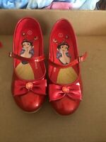 Disney Snow White Shoes Size 2-red Sparkly-Hardly Ever Worn
