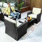 Yitahome Patio Wicker Furniture Set Rattan Sofa Garden Conversation Set For Home