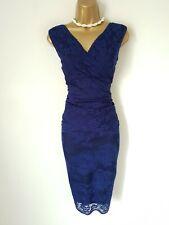 PHASE EIGHT lace cobalt blue Amaya dress uk 16