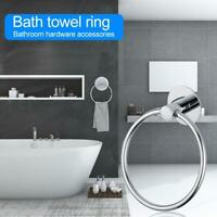 Bathroom Stainless Steel Round Wall Mounted Towel Ring Holder Hanger Rack Tools