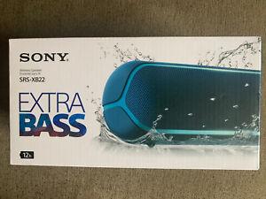 Sony SRS-XB22/L Extra Bass Portable Bluetooth Speaker SRSXB22 Blue
