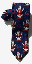 John Ashford NEW Blue Red Holiday Christmas Santa Claus Men's Neck Tie $49 A3679