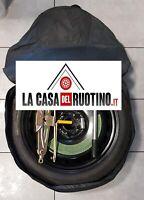 """Ruotino di Scorta 500x 17"""" ORIGINALE CON CRIC CHIAVE SACCA+GUANTI"""