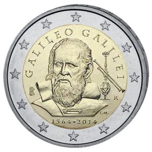ITALIE 2 Euro Commemorative Galileo Galilée 2014 UNC