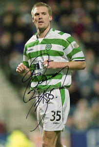 Johan Mjallby, Glasgow Celtic & Sweden, signed 12x8 inch photo. COA.