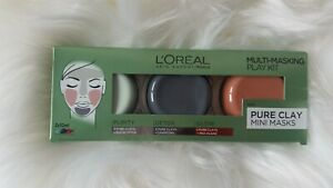 L'Oréal 3 Pure Clays Multi-Masking Face Mask Play Kit, 3 x 10 ml