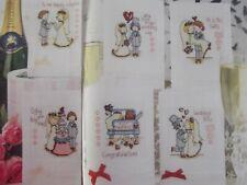 6 WEDDING CROSS STITCH  CARD CHARTS#793