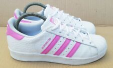 uk availability f7f58 a25fe ADIDAS SUPERSTAR TRAINERS SIZE 4 UK RARE PINK AND WHITE REPTILE STUNNING