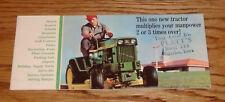 Original 1968 John Deere Lawn & Garden Tractor Sales Brochure 68 140 Mower