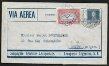 Argentina covers 1931 Airmail cover VIA AEROPOSTALE to Anvers/Belgium