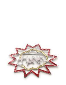 Authentic CHANEL Chanel Broach Three Colors Rhinestone B17-K pin (310105)