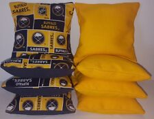 SET OF 8 ALL WEATHER BUFFALO SABRES CORNHOLE BEAN BAGS ***FREE SHIPPING!!!!***