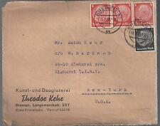 Germany 1939 Officially Sealed Cover to NY USA