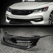 FOR 16-17 HONDA ACCORD SEDAN SPORT STYLE FRONT BUMPER UPPER HOOD GRILLE GLOSSY