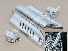 Chrome Lower Fork Leg Deflectors For Harley Touring Electra Glide Ultra Classic